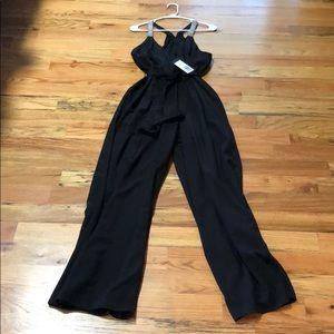 Halston Heritage black jumpsuit. Large! NWT!